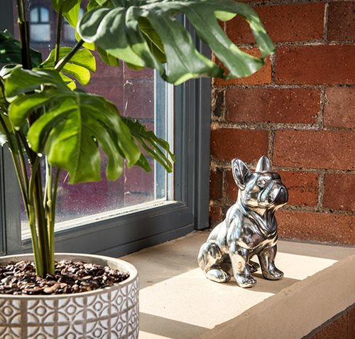 Silver French Bulldog Ornament - Bracken Ltd
